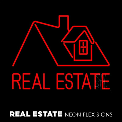 Real Estate Neon Flex Signs