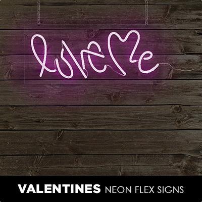 Valentines Neon Flex Signs