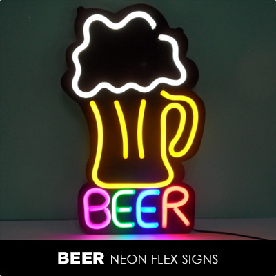 Beer Neon Flex Signs