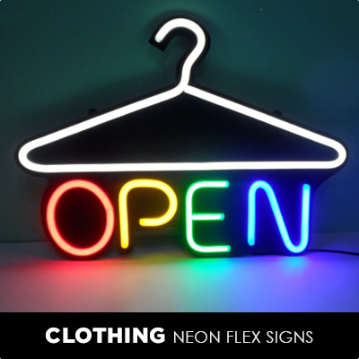 Clothing Neon Flex Signs