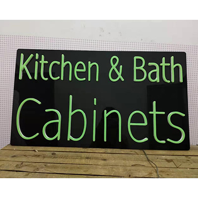 Black Backing Neon Flex Sign
