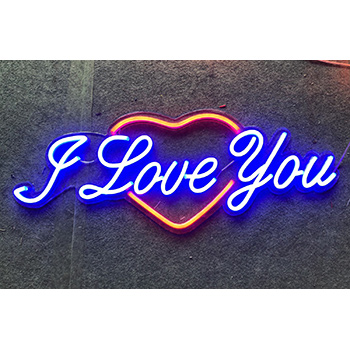 Contoured Backing Neon Flex Sign