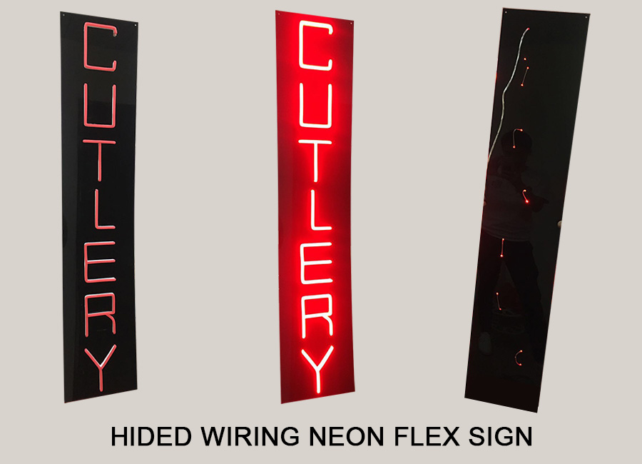 Hided Wiring Neon Flex Signs