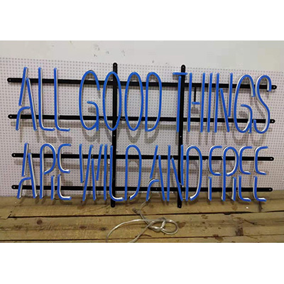 Metal Frame Neon Flex Sign