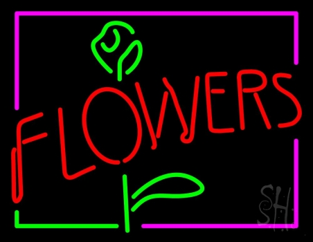 Flowers Rose Logo Neon Sign Flower Neon Signs The Neon Store